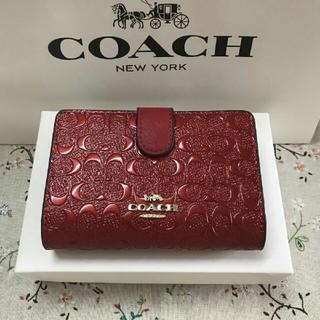 COACH - 人気 新品(COACH )二つ折り 財布F25937