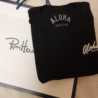 ロンハーマン(Ron Herman)のアロハビーチクラブ tシャツ 黒(Tシャツ/カットソー(半袖/袖なし))