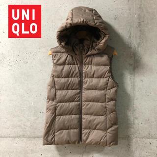 ユニクロ(UNIQLO)の【UNIQLO】ダウン/フェザー フードダウンベスト M(ダウンベスト)