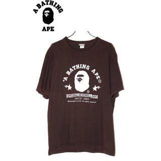 アベイシングエイプ(A BATHING APE)のA BATHING APEアベイシングエイプ Tシャツ/ブラウンM (Tシャツ/カットソー(半袖/袖なし))