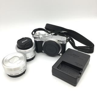 Nikon - 動作確認済 美品 ニコン NIKON 1 J5 ミラーレス一眼 カメラ シルバ