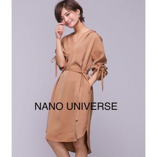 ナノユニバース(nano・universe)の美品 ナノユニバース とろみ ワンピース (ひざ丈ワンピース)
