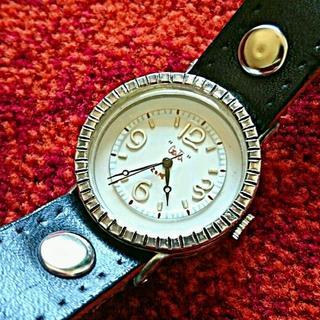 セイコー(SEIKO)の【未使用品・電池交換済】gataSmithwacth 手作り腕時計ssmⅢ 白(腕時計(アナログ))
