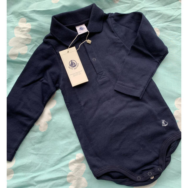 PETIT BATEAU(プチバトー)のmarine様 新品未使用 プチバトー  ロンパースセット キッズ/ベビー/マタニティのベビー服(~85cm)(肌着/下着)の商品写真