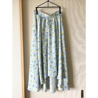 INGNI - 花柄イレギュラーヘムスカート