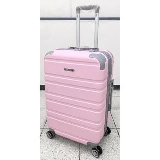 中型軽量スーツケース 8輪キャスター TSAロック付き Mサイズ ピンク