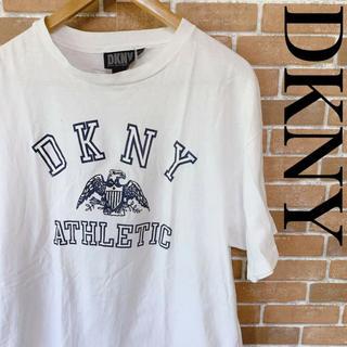 ダナキャランニューヨークウィメン(DKNY WOMEN)の古着 DKNY ダナ キャラン USA製 Tシャツ デカロゴ 旧タグ 0517(Tシャツ/カットソー(半袖/袖なし))