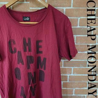 チープマンデー(CHEAP MONDAY)の古着 CHEAP MONDAY チープマンデー Tシャツ デカロゴ 0517(Tシャツ/カットソー(半袖/袖なし))