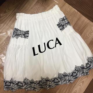 ルカ(LUCA)の☆LUCA☆ カットワークプリーツスカート(ひざ丈スカート)
