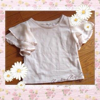 ミスティウーマン(mysty woman)の異素材トップス(Tシャツ(半袖/袖なし))