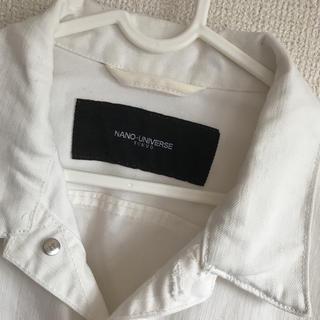 ナノユニバース(nano・universe)のデニムジャケット ホワイト Gジャン(Gジャン/デニムジャケット)