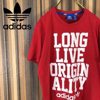 アディダス(adidas)のadidas アディダス Tシャツ 半袖 カットソー デカロゴ (Tシャツ/カットソー(半袖/袖なし))