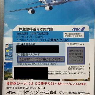 エーエヌエー(ゼンニッポンクウユ)(ANA(全日本空輸))のANA 株主優待券 2020/5/31 1枚(その他)