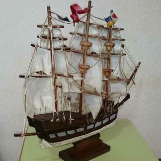 アンティーク 帆船(ORIon) 海賊船  木製   中品〜並品