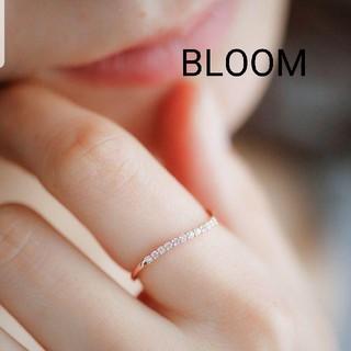 ブルーム(BLOOM)のBLOOM キュービックジルコニアウェーブエタニティリング【美品】9号(リング(指輪))