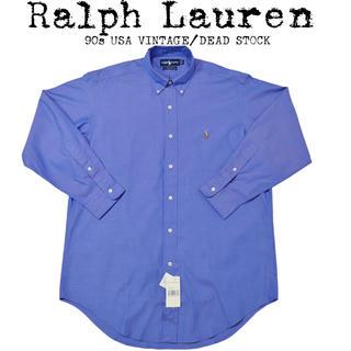 ラルフローレン(Ralph Lauren)の★新品★Ralph Lauren★ラルフローレン★90s★ロゴ刺繍シャツ★ブルー(シャツ)