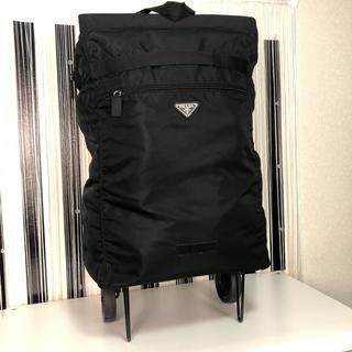 プラダ(PRADA)のLinca様専用  PRADA 折り畳み キャリーバッグ ブラック (スーツケース/キャリーバッグ)
