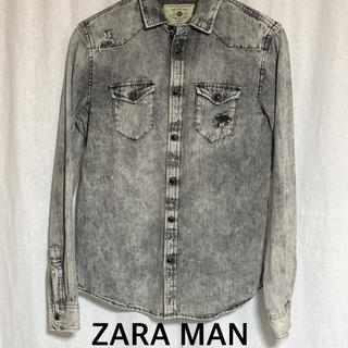 ZARA - ZARA MAN ダメージ加工 デニムシャツ ユニセックス