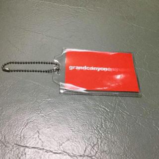 グランドキャニオン(GRAND CANYON)のGRAND CANYON GDCボールタグステッカーキーチェーン新品赤ロゴ(キーホルダー)