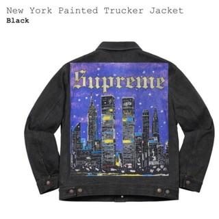 Supreme - supreme New York Painted Trucker Jkt S