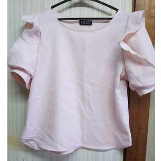 シマムラ(しまむら)のピンク 袖フリル 石原さとみさん 紗栄子さん(Tシャツ(半袖/袖なし))