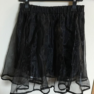 オーガンジースカート黒(ミニスカート)