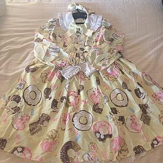 Angelic Pretty - baked sweets paradeワンピース+バレッタ イエロー