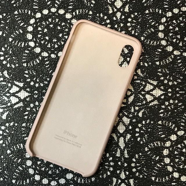 Apple(アップル)のiPhoneX ピンクサンド シリコーンケース 純正 シリコンケース スマホ/家電/カメラのスマホアクセサリー(iPhoneケース)の商品写真