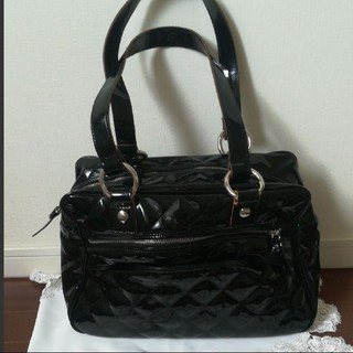 ルーニィ(LOUNIE)のLOUNIE黒の大きなハンドバッグ (ハンドバッグ)