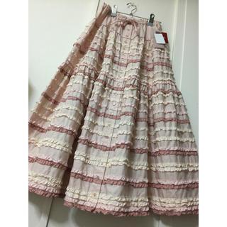 PINK HOUSE - 新品 🐰 ピンクハウス   配色フリル スカート
