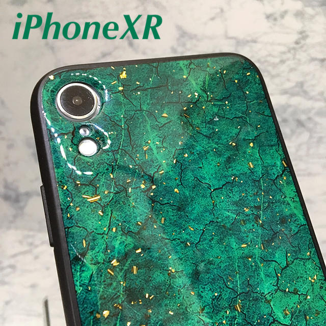 グッチ iphonexr ケース 革製 - アイフォンXR iPhoneXRケース☆クラック柄☆グリーン☆送料無料の通販 by ロゴ's shop|ラクマ