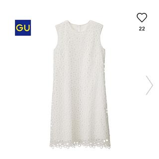 GU - 【新品】GU レースワンピース(ノースリーブ)Lサイズ