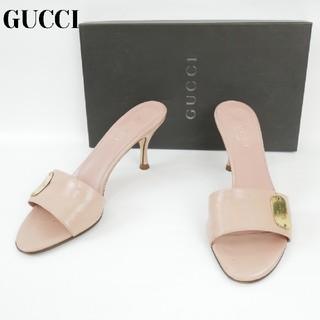 e8d01239259f グッチ(Gucci)のGUCCI グッチ 6 1/2C イタリア製 ピンク ハイヒール(ハイヒール
