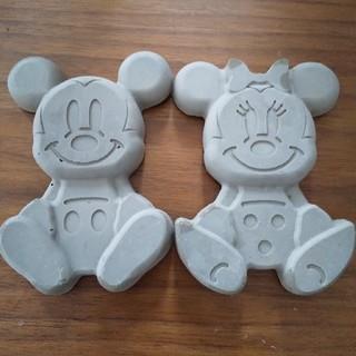 ミッキーマウス - ディズニー ミッキー&ミニーちゃん風 コンクリート セメント オブジェ 置物★
