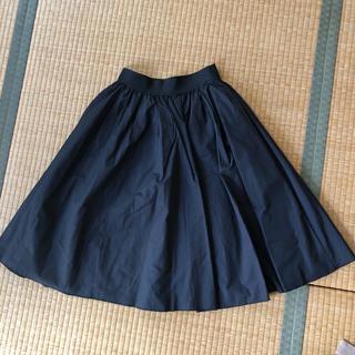 04fc2c9fdcbf6 スナイデル(snidel) フレアスカート ひざ丈スカート(ブラック 黒色系 ...