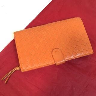 ボッテガヴェネタ(Bottega Veneta)の良品 ボッテガヴェネタ 折財布 オレンジ(財布)