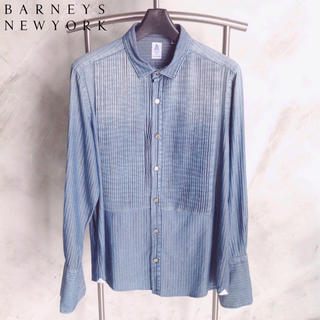 BARNEYS NEW YORK - 【イタリア製】メンズ バーニーズ ブザム ストライプ長袖シャツ 【サイズはM】