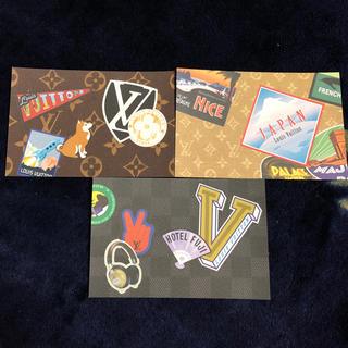 ルイヴィトン(LOUIS VUITTON)のLouisVuitton ポストカード 兼 ステッカー 激レア(その他)