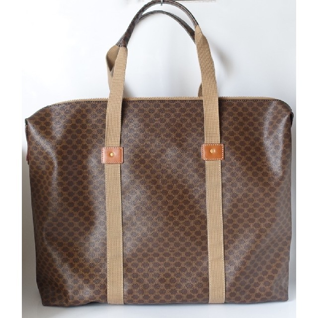 celine(セリーヌ)の⭐美品⭐セリーヌマカダム柄超お洒落実用ボストンバッグ⭐折り畳めるタイプ⭐伊製⭐ レディースのバッグ(ボストンバッグ)の商品写真
