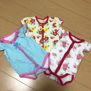 ca2b12e260b9b ニシキベビー(Nishiki Baby)のチャックルベビー ロンパース 女の子 60cm 3枚セット