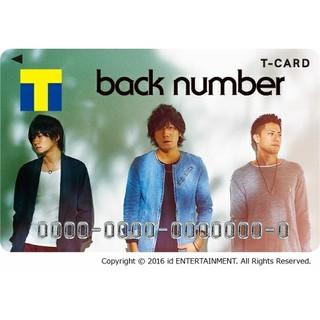 バックナンバー(BACK NUMBER)のTSUTAYA コラボTカード back number 未登録未開封品(ミュージシャン)