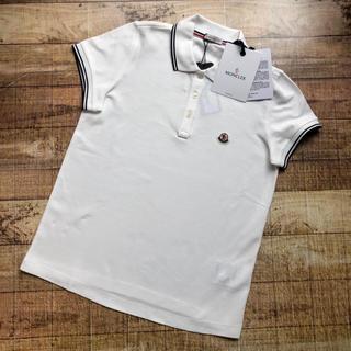 モンクレール(MONCLER)の新品 モンクレール ポロシャツ ストライプライン ロゴ ゴルフなどにも♬(ポロシャツ)