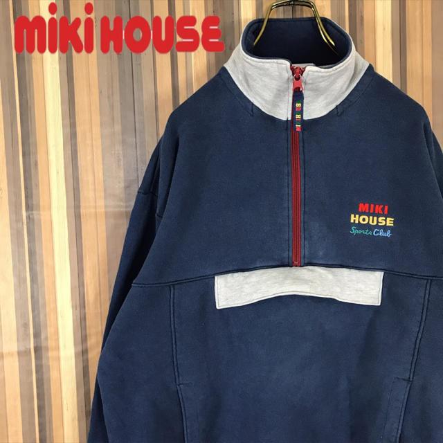 mikihouse(ミキハウス)の【激レア】ミキハウス ハーフジップ  スウェット トレーナー エルボーパッチ メンズのトップス(スウェット)の商品写真