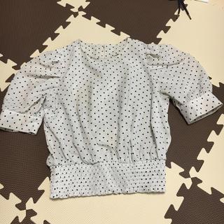 ジーユー(GU)のドット ブラウス(シャツ/ブラウス(半袖/袖なし))