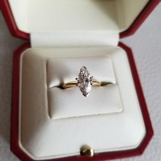 1.22ct マーキスカット 天然ダイヤモンド(リング(指輪))