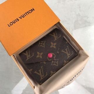 LOUIS VUITTON - LV モノグラム 三つ折り ミニ財布 フューシャ