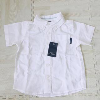 ニシマツヤ(西松屋)の新品、タグ付き♡半袖シャツ 90(ブラウス)