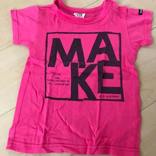 ジャンクストアー(JUNK STORE)の●ジャンクストアー●Tシャツ 90センチ 半袖 ピンク ショッキングピンク(Tシャツ/カットソー)