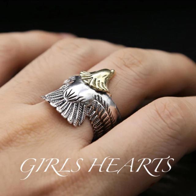 送料無料26号クロムシルバービッグメタルイーグルリング指輪値下げ残りわずか メンズのアクセサリー(リング(指輪))の商品写真