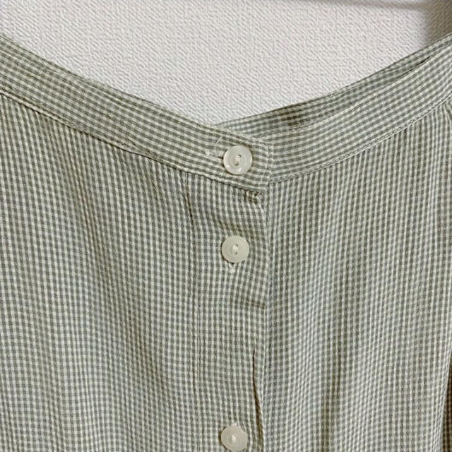 EDIT.FOR LULU(エディットフォールル)のvintage ギンガムチェックフロントボタンスカート レディースのスカート(ロングスカート)の商品写真